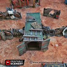 Load image into Gallery viewer, Junkfort Foot Entrance - 15mm 28mm 20mm 32mm Brave New Worlds Wasteworld Gaslands Terrain Scatter D&D DnD Pathfinder Warhammer 40k