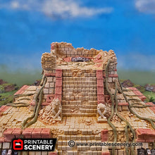 Load image into Gallery viewer, Pyramid of New Eden - 15mm 28mm 32mm Kukulkan Brave New Worlds New Eden Terrain Scatter D&D DnD Pathfinder Warhammer 40k