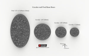 Circular and Oval Bone Bases for Miniatures - Minis Monsters Soliders D&D DnD Wargaming Pathfinder Warhammer 40k