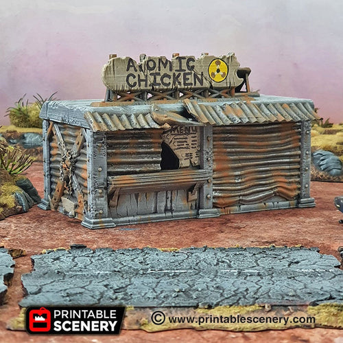 Junkfort Franchise - 15mm 28mm 20mm 32mm Brave New Worlds Wasteworld Gaslands Terrain Scatter D&D DnD Pathfinder Warhammer 40k