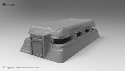 Normandy Bunker - Rampage Gothic WWII WWI Terrain Bolt Action D&D DnD SW Legion Warhammer 40k Sigmar