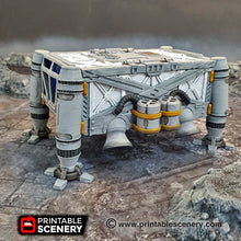 Load image into Gallery viewer, Cargo Lander - 15mm 28mm 32mm Brave New Worlds Sanctuary-17 Terrain Scatter D&D DnD Pathfinder Warhammer 40k