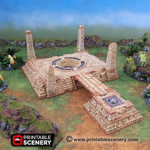 Load image into Gallery viewer, Eden Central Ruins - 15mm 28mm 32mm Brave New Worlds New Eden Terrain Scatter D&D DnD Pathfinder Warhammer 40k