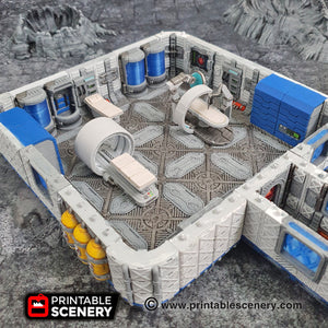 Sci-fi Hospital Beds - 28mm 32mm Brave New Worlds Sanctuary 17 Terrain Scatter D&D DnD Pathfinder Biobed Sick Bay