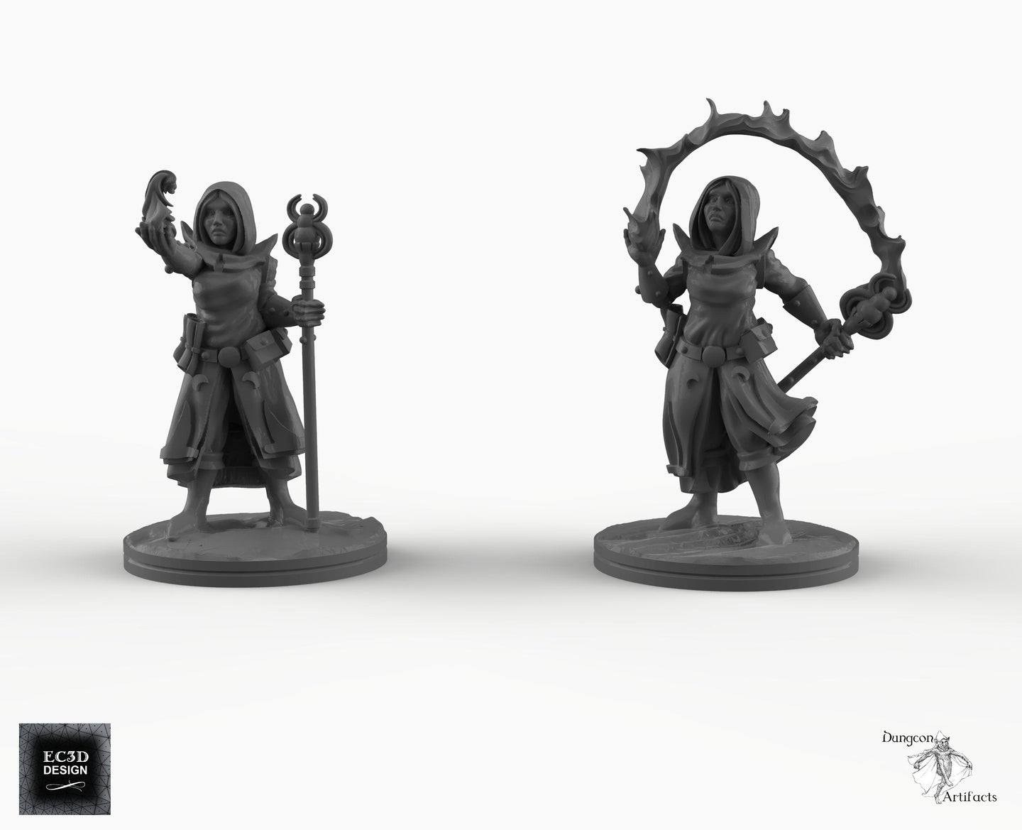 Dark Elf Sorceress - EC3D Skyless Realms Wargaming Miniatures D&D DnD Pathfinder Drow elves Warhammer