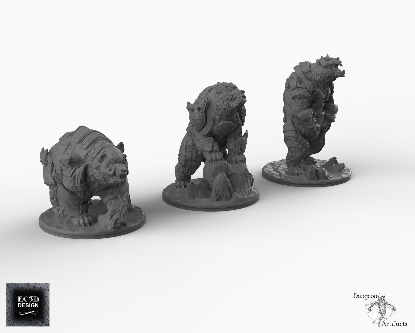 Armored Bears - Panserbjorn Panzerbjorn Wilds of Wintertide Wargaming Terrain D&D, DnD, Pathfinder, SW Legion, Warhammer