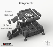 Load image into Gallery viewer, Operations Base Module - 2x2 - 28mm 32mm Brave New Worlds Sanctuary 17 Terrain Scatter D&D DnD Pathfinder Warhammer 40k