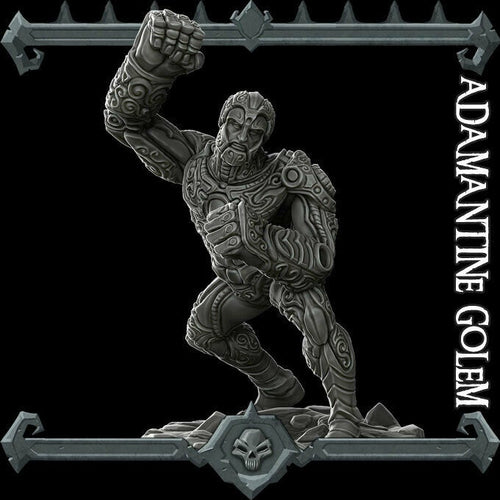 Adamantine Golem - Wargaming Miniatures Monster Rocket Pig Games D&D, DnD, Pathfinder, SW Legion, Warhammer