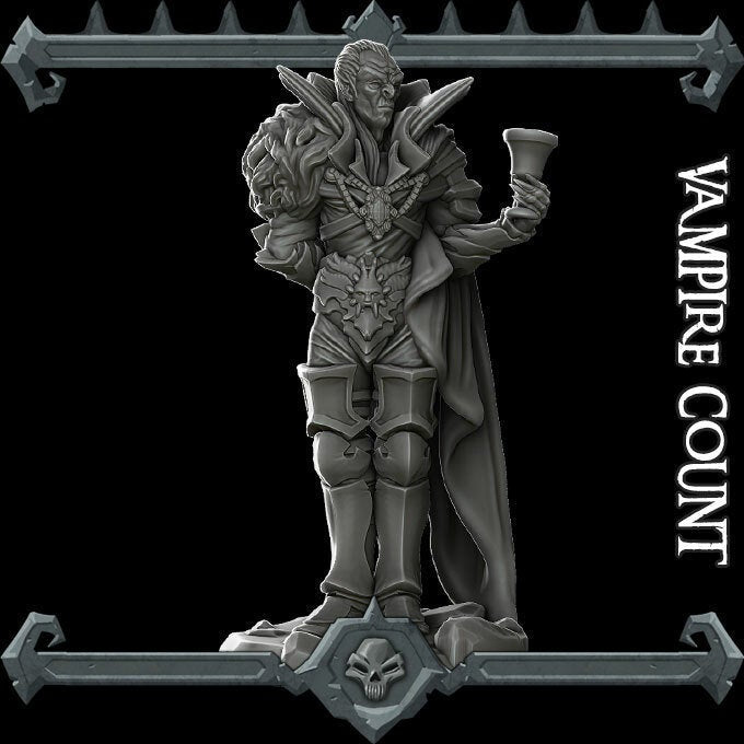 Vampire Count - Wargaming Miniatures Monster Rocket Pig Games D&D, DnD, Pathfinder, SW Legion, Warhammer
