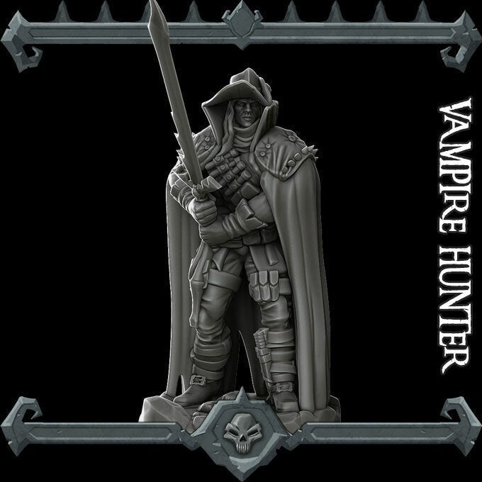 Vampire Hunter - Wargaming Miniatures Monster Rocket Pig Games D&D, DnD, Pathfinder, SW Legion, Warhammer