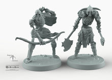 Load image into Gallery viewer, Skeleton Soldiers - Skeletal Soldiers Mini Monster Mayhem Wargaming Miniatures Games D&D, DnD, Pathfinder, SW Legion, Warhammer