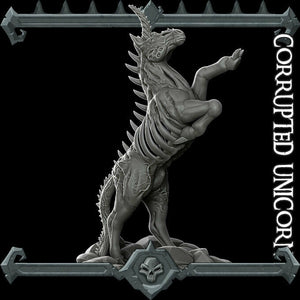 Corrupted Unicorn - Wargaming Miniatures Monster Rocket Pig Games D&D, DnD, Pathfinder, SW Legion, Warhammer