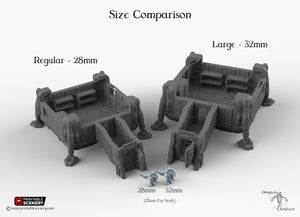 Operations Base Module - 2x2 - 28mm 32mm Brave New Worlds Sanctuary 17 Terrain Scatter D&D DnD Pathfinder Warhammer 40k