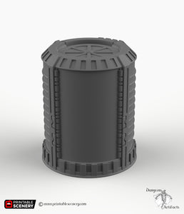 Teleporter Pad - 15mm 28mm 32mm 42mm Printable Scenery Tabletop Scatter Miniatures Terrain Starship Pathfinder, Warhammer, 40k