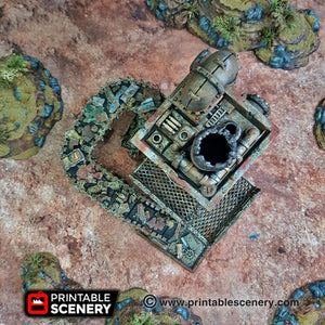 Recycling Tower - 15mm 28mm 20mm 32mm Brave New Worlds Wasteworld Gaslands Terrain Scatter D&D DnD Pathfinder Warhammer 40k