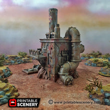 Load image into Gallery viewer, Recycling Tower - 15mm 28mm 20mm 32mm Brave New Worlds Wasteworld Gaslands Terrain Scatter D&D DnD Pathfinder Warhammer 40k