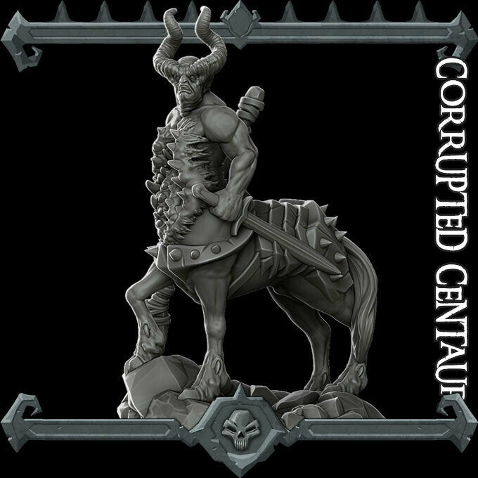 Corrupted Centaur - Wargaming Miniatures Monster Rocket Pig Games D&D, DnD, Pathfinder, SW Legion, Warhammer