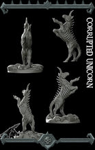 Load image into Gallery viewer, Corrupted Unicorn - Wargaming Miniatures Monster Rocket Pig Games D&D, DnD, Pathfinder, SW Legion, Warhammer