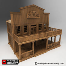Load image into Gallery viewer, Saloon - 15mm 28mm 32mm Time Warp Wargaming Terrain Scatter Western D&D, DnD, Pathfinder, Warhammer, 40k