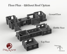 Load image into Gallery viewer, Merchant's Manor - 15mm 28mm 32mm Dark Realms Medieval Scenery Mansion Wargaming Terrain Scatter D&D DnD Pathfinder Warhammer 40k