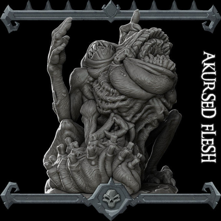 Akursed Flesh - Acursed Flesh Wargaming Miniatures Monster Rocket Pig Games D&D, DnD, Pathfinder, SW Legion, Warhammer