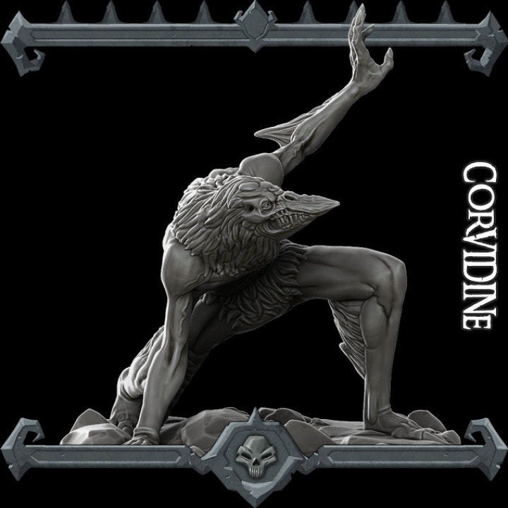 Corvidine - Wargaming Miniatures Monster Rocket Pig Games D&D, DnD, Pathfinder, SW Legion, Warhammer