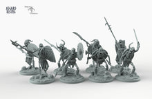 Load image into Gallery viewer, Draugr Infantry - Barrow Wights - Asgard Rising Skeleton Army Wargaming Undead Miniatures D&D DnD Pathfinder Monster Warhammer