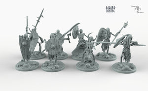 Draugr Infantry - Barrow Wights - Asgard Rising Skeleton Army Wargaming Undead Miniatures D&D DnD Pathfinder Monster Warhammer