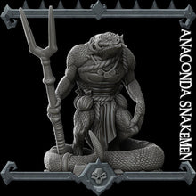 Load image into Gallery viewer, Anaconda Snakeman - Lizard Man - Wargaming Miniatures Monster Rocket Pig Games D&D, DnD, Pathfinder, SW Legion, Warhammer