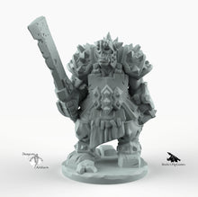 Load image into Gallery viewer, Orc Warrior - Miniatures Monster Rocket Pig Games D&D, DnD, Pathfinder, SW Legion, Warhammer