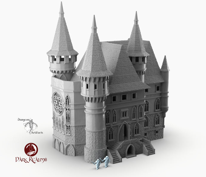 Dracul Manor - 15mm 28mm 32mm Dracula Dark Realms Medieval Scenery Mansion Wargaming Terrain Scatter D&D DnD Pathfinder Warhammer 40k