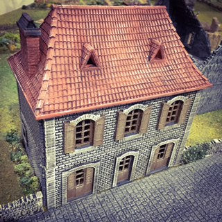 French House Shop - 15mm 28mm 32mm Time Warp Wargaming Terrain Scatter Bolt Action D&D, DnD, Pathfinder, Warhammer, 40k