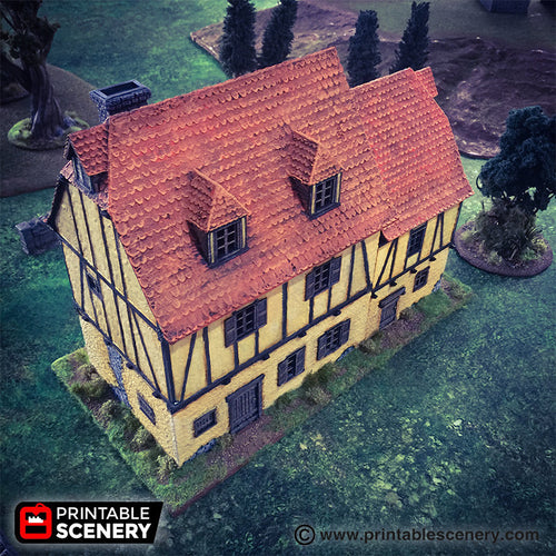 Medieval House - 15mm 28mm 32mm Time Warp Wargaming Terrain Scatter Bolt Action D&D, DnD, Pathfinder, Warhammer, 40k