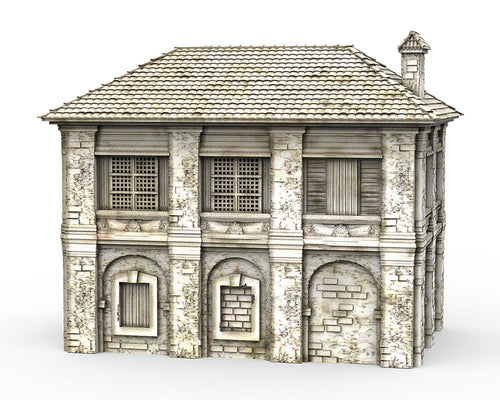 Caribbean House - 15mm 28mm 32mm Time Warp Wargaming Terrain Scatter Bolt Action D&D, DnD, Pathfinder, Warhammer, 40k