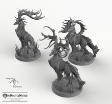 Load image into Gallery viewer, Stags - Fantastic Elk - Buck Deer Mini Monster Mayhem Wargaming Miniatures Games D&D DnD Pathfinder Warhammer