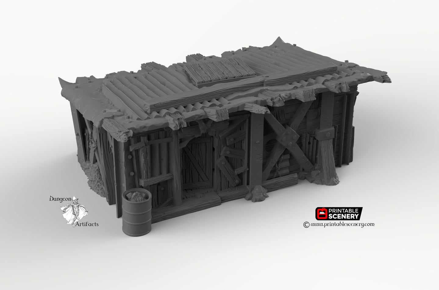 Scrap Yard House - 15mm 28mm 20mm 32mm Brave New Worlds Wasteworld Gaslands Terrain Scatter D&D DnD Pathfinder Warhammer 40k