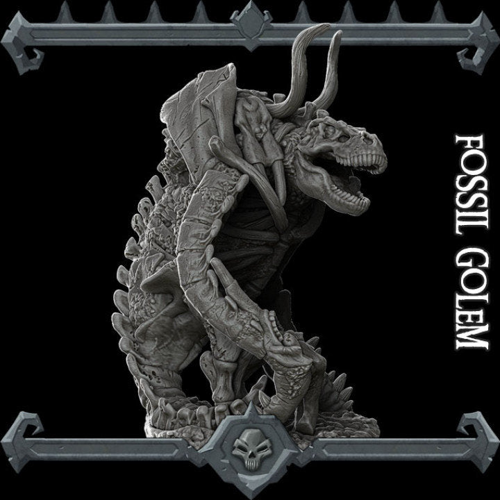 Fossil Golem - Wargaming Miniatures Monster Rocket Pig Games D&D, DnD, Pathfinder, SW Legion, Warhammer