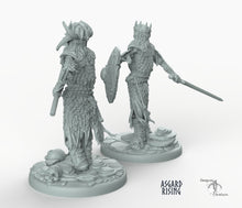 Load image into Gallery viewer, Draugr King - Barrow Wight - Wargaming Miniatures Monster Asgard Rising D&D DnD Pathfinder Undead Skeleton Warhammer