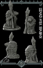 Load image into Gallery viewer, Lizardfolk Shaman - Lizardman Lizardmen Miniatures Monster Rocket Pig Games D&D, DnD, Pathfinder, SW Legion, Warhammer