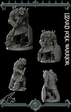 Load image into Gallery viewer, Lizardfolk Warrior - Lizardman Lizardmen Miniatures Monster Rocket Pig Games D&D, DnD, Pathfinder, SW Legion, Warhammer