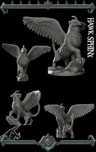 Hawk Sphinx - Wargaming Miniatures Monster Rocket Pig Games D&D, DnD, Pathfinder, SW Legion, Warhammer