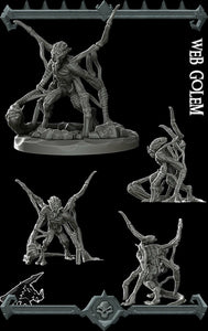 Web Golem - Wargaming Miniatures Monster Rocket Pig Games D&D, DnD, Pathfinder, SW Legion, Warhammer