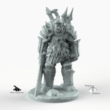 Load image into Gallery viewer, Orc Weaponsmaster - Weaponmaster Weapon Master Miniatures Monster Rocket Pig Games D&D, DnD, Pathfinder, SW Legion, Warhammer