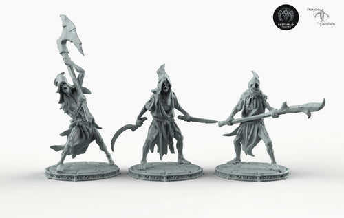 Cultists with Weapons - Bestiarum Miniatures Wargaming Tabletop Games D&D DnD Pathfinder SW Legion Warhammer