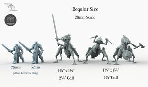 Necro Warriors - Bestiarum Miniatures Wargaming Tabletop Games D&D DnD Pathfinder SW Legion Warhammer
