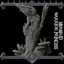 Load image into Gallery viewer, Mermaid Warrior Princess - Wargaming Miniatures Rocket Pig Games D&D DnD Pathfinder SW Legion Warhammer