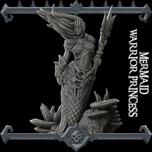Mermaid Warrior Princess - Wargaming Miniatures Rocket Pig Games D&D DnD Pathfinder SW Legion Warhammer