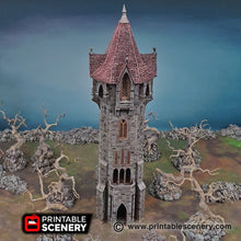 Load image into Gallery viewer, Arcanist's Tower - 15mm 28mm 32mm Shadowfey D&D DnD Pathfinder Warhammer 40k Arcanist