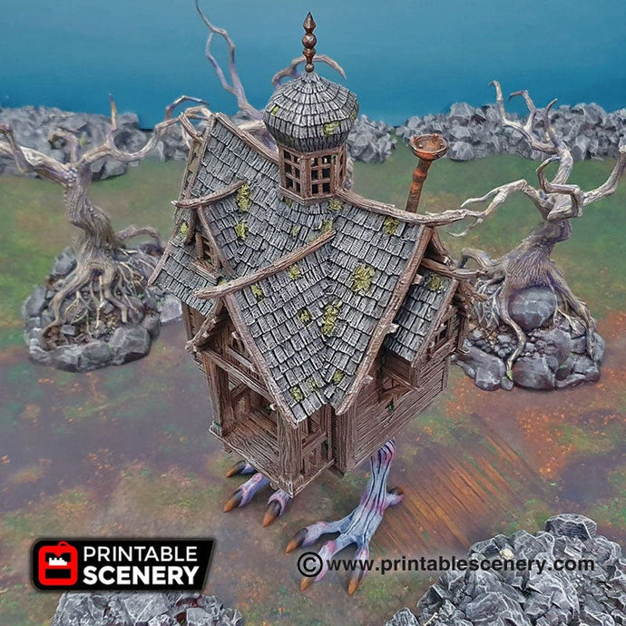 Baba Yaga's Cottage - Shadowfey Wilds 15mm 28mm 32mm Wargaming Terrain D&D, DnD Pathfinder SW Legion Warhammer 40k