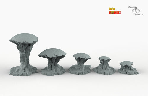 Alien Ruin Spheres - Print Your Monsters Fantastic Plants and Rocks Resin Terrain Wargaming D&D DnD Pathfinder Warhammer
